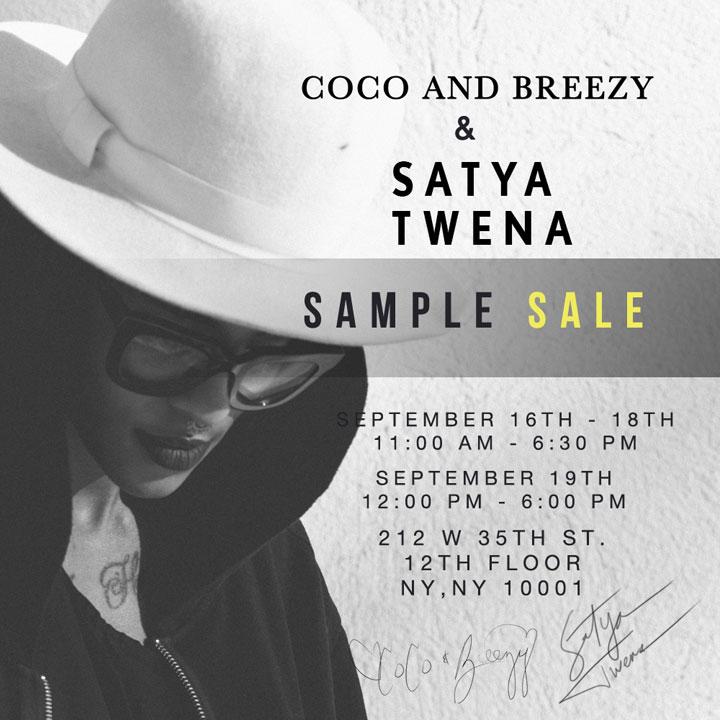 Satya Twena Hats & Coco & Breezy Eyewear Sample Sale