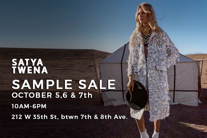 Satya Twena Sample Sale