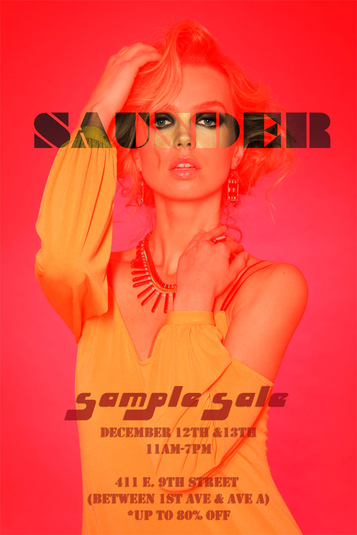 Saunder Sample Sale