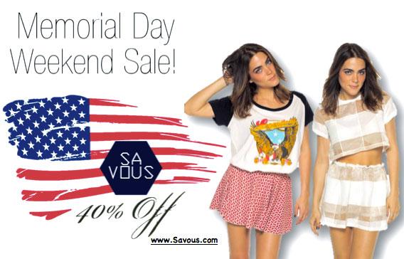 Savous Memorial Day Online Sale