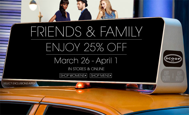 Scoop NYC Friends & Family Sale