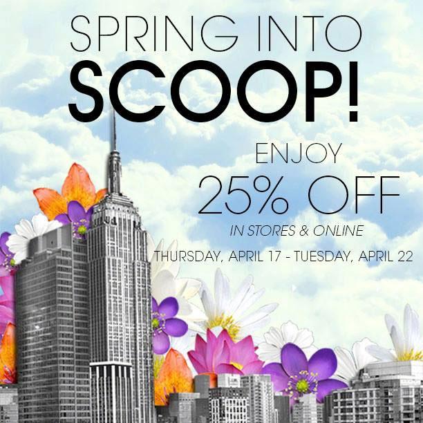 Scoop NYC Spring Sale
