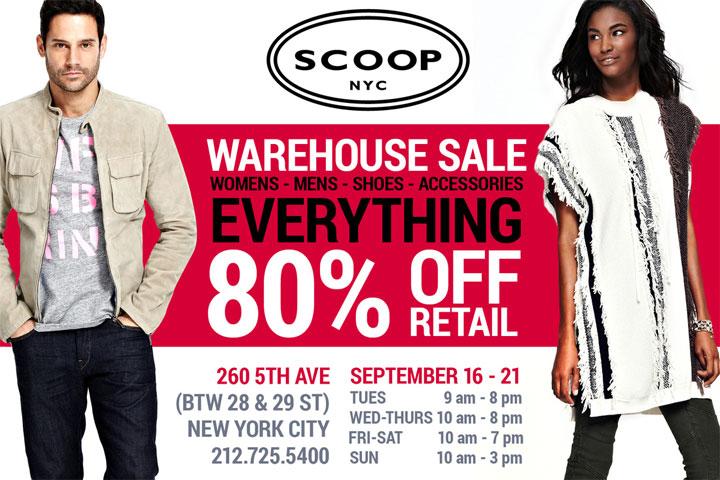 Scoop NYC Warehouse Sale