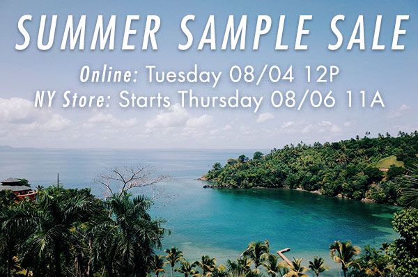 Seize sur Vingt Summer Sample Sale