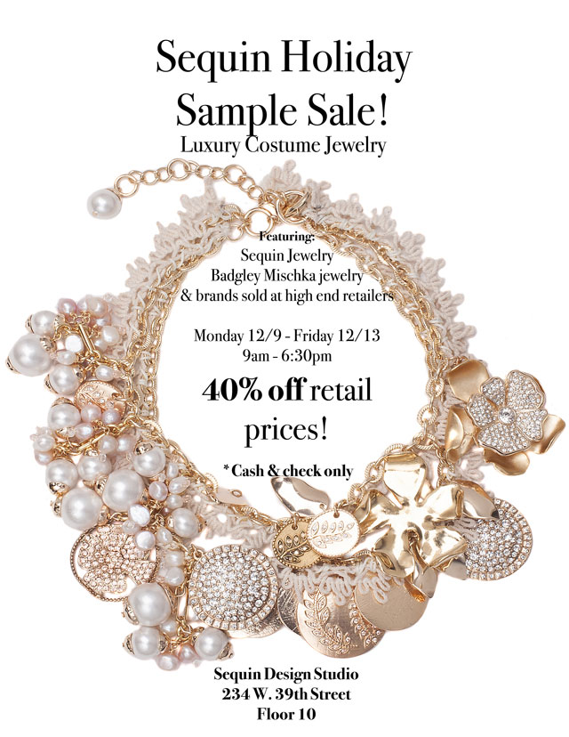 Sequin Holiday Sample Sale