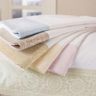 Lindsey Border Queen Sheet Set - 100% Egyptian cotton percale: $150 (orig. $610)