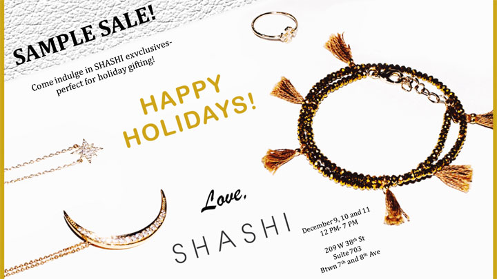 Shashi Jewelry Holiday Sample Sale