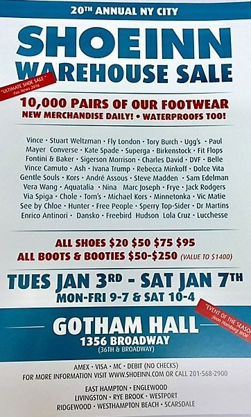 Shoe-Inn Warehouse Sale