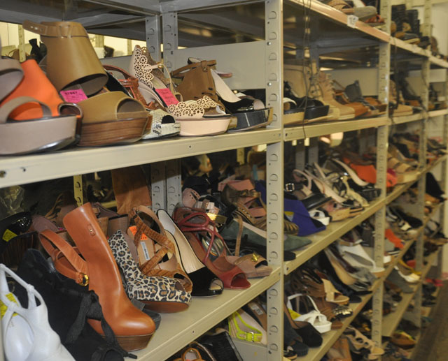 The trends of the shoe section were platforms, suede, and Greek sandals