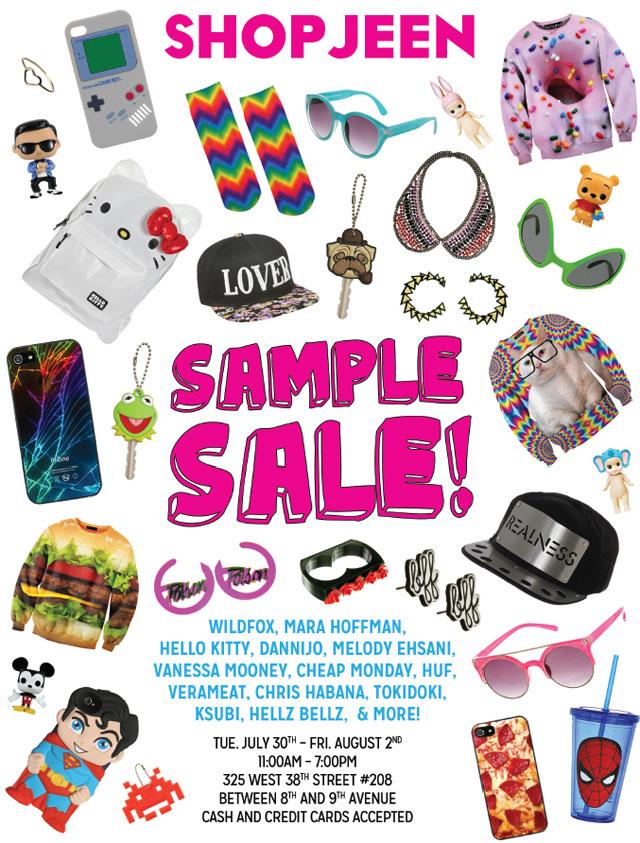 Shop Jeen Sample Sale