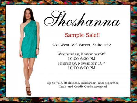 Shoshanna Sample Sale