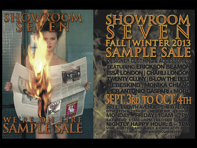 Showroom Seven Fall/Winter 2013 Sample Sale