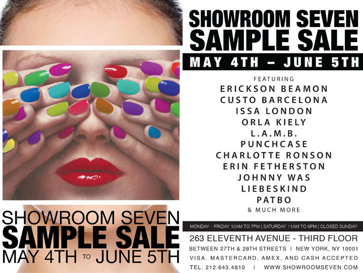 Showroom Seven Sample Sale