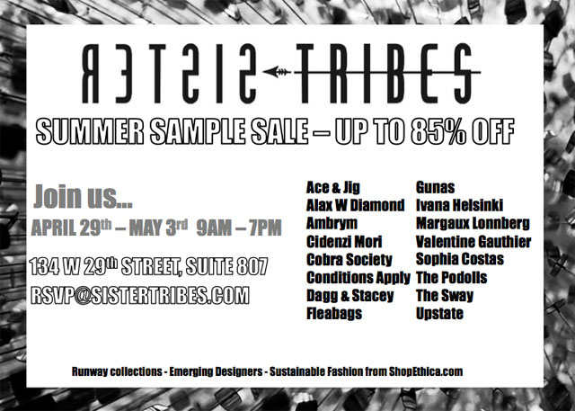 Sister Tribes Summer Sample Sale