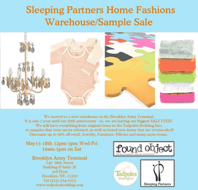 Sleeping Partners Home Fashion Warehouse Sale