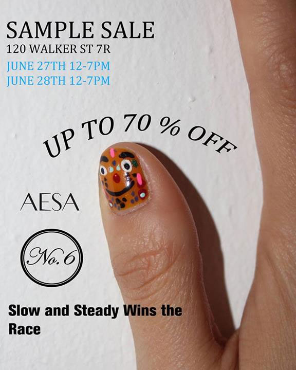 Slow and Steady Wins the Race Sample Sale