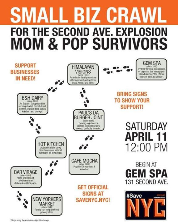 Small Biz Crawl for the Second Ave. Explosion Mom-&-Pop Survivors