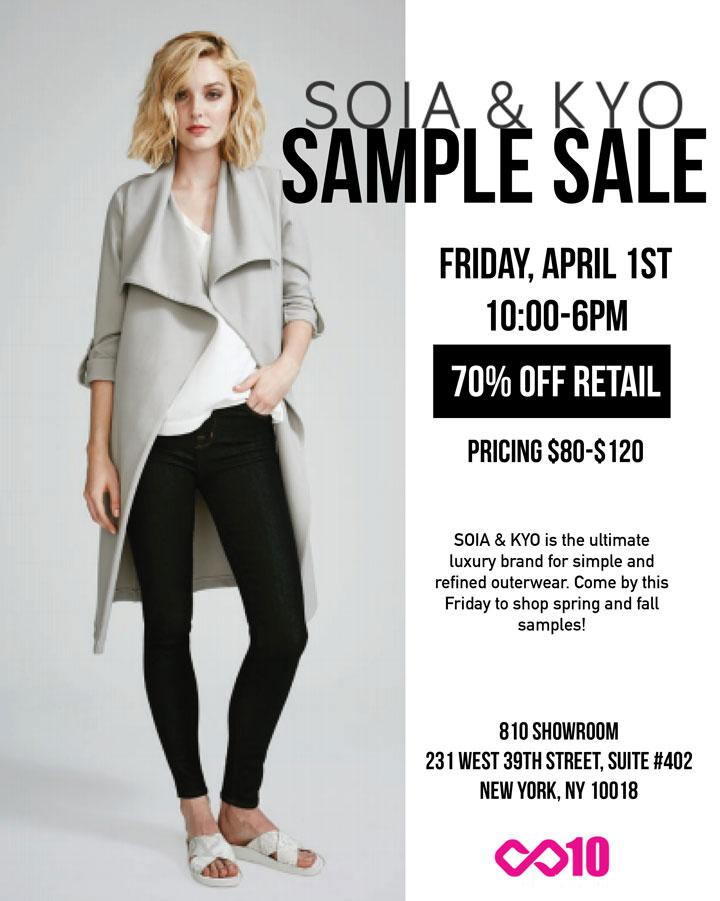 Soia & Kyo Sample Sale