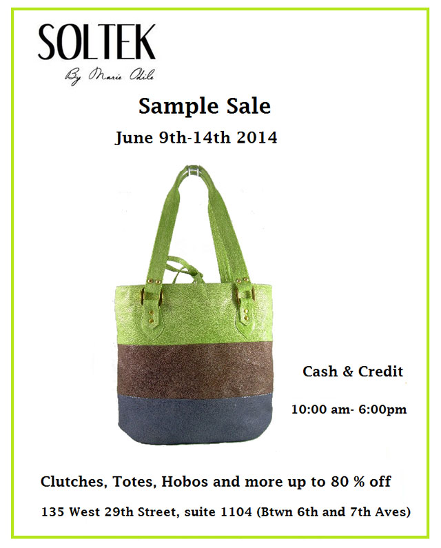 Soltek by Marie Odile Sample Sale