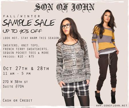 SON OF JOHN Sample Sale