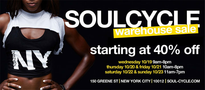 Soulcycle Warehouse Sale