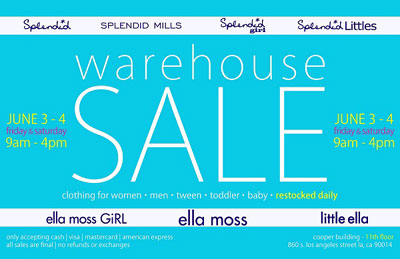 Splendid and Ella Moss Warehouse Sale