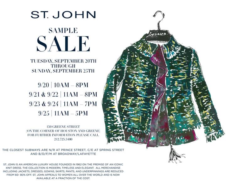 St. John Sample Sale
