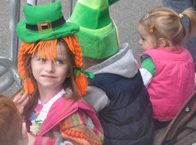 Children at St. Patrick's Day Parade