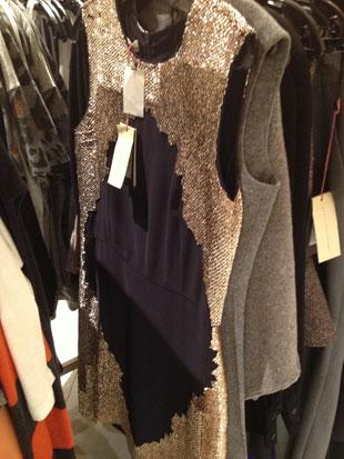 Stella McCartney Blue Midnight w/ Gold Sequence Sleeveless Dress  ($2,475)