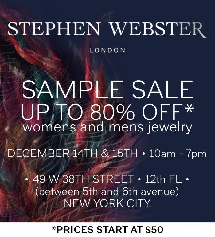 Stephen Webster Holiday Sample Sale