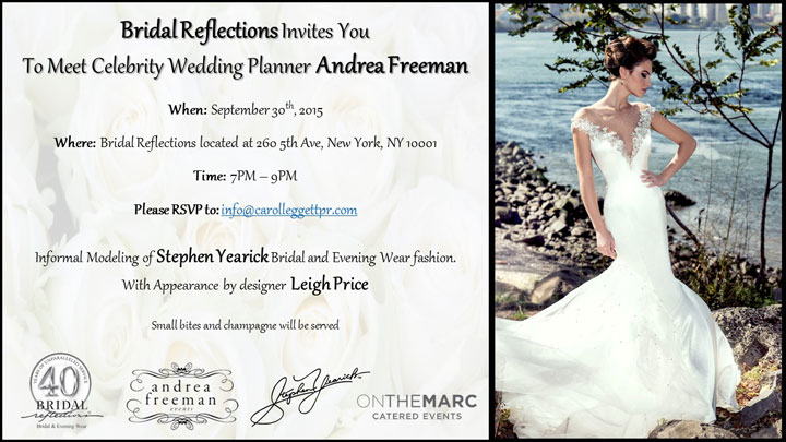 Stephen Yearick & Andrea Freeman Event at Bridal Reflections