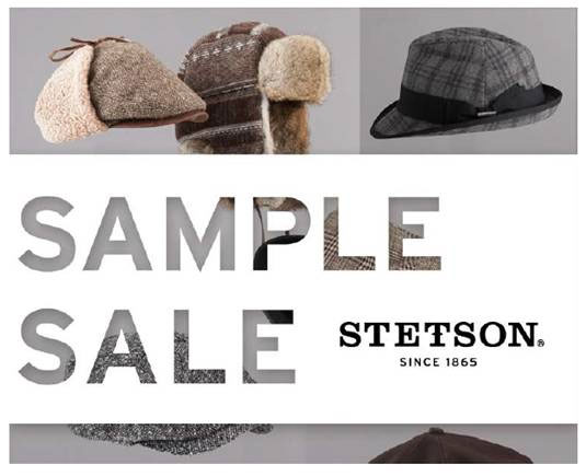 Stetson Sample Sale