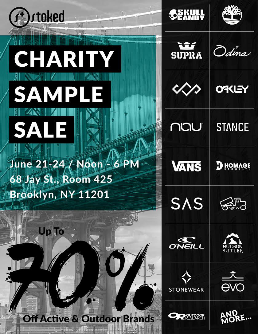 STOKED Charity Sample Sale