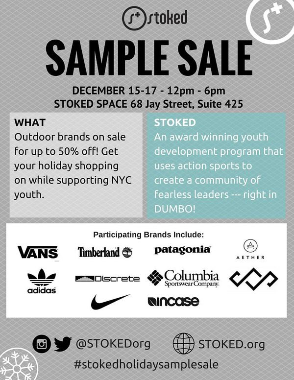 Stoked Holiday Sample Sale