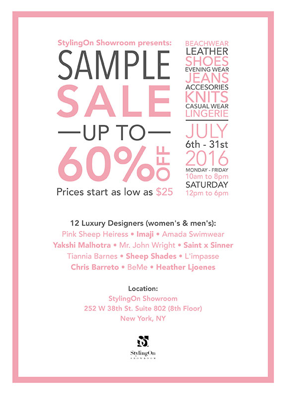 StylingOn Sample Sale