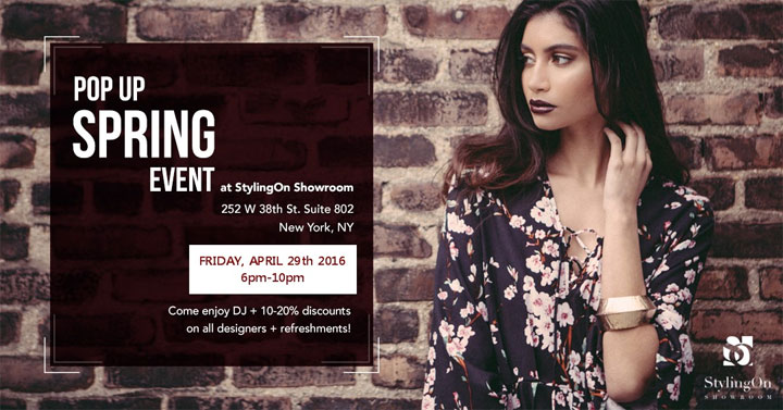 StylingOn Showroom Pop-up Spring Event