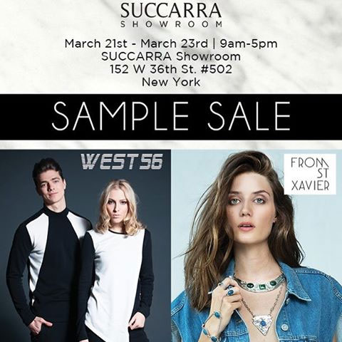 West 56 & From St. Xavier Sample Sale