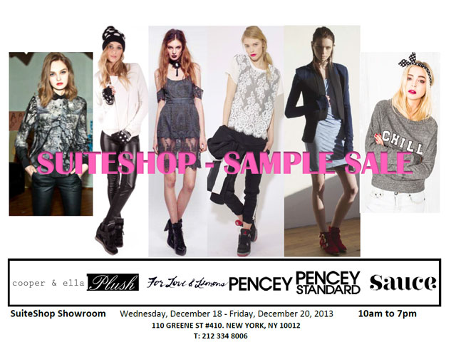 Suiteshop Sample Sale