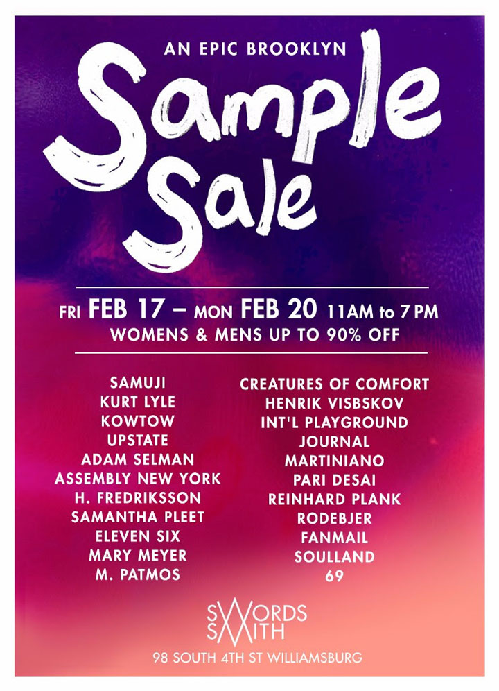 Swords-Smith Sample Sale