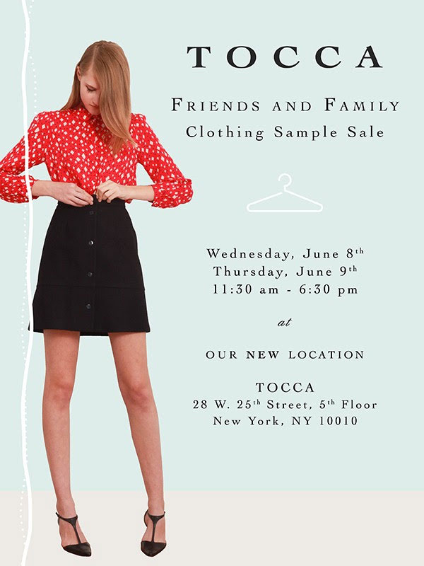 TOCCA Ready-To-Wear Sample Sale