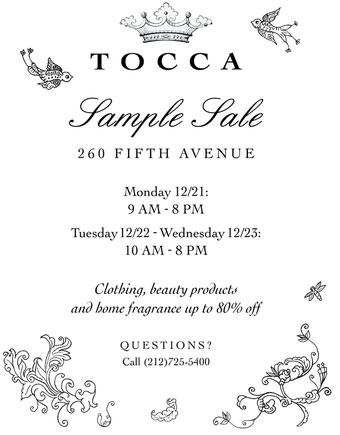 TOCCA Sample Sale