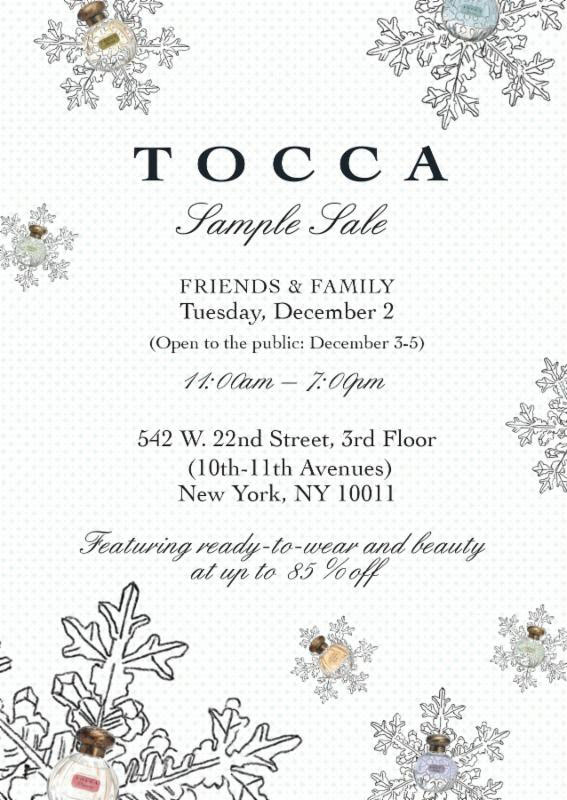 TOCCA Winter Sample Sale