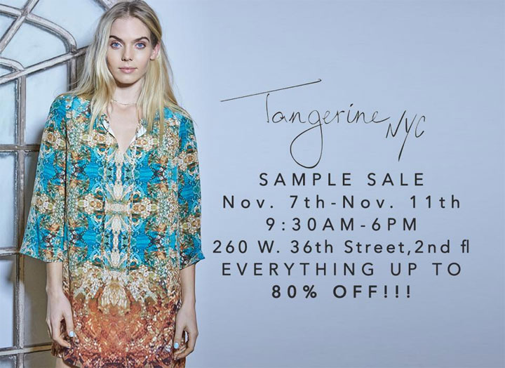 Tangerine NYC Sample Sale