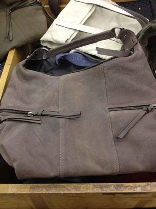 Tano Nubuck Grey Bag ($179)