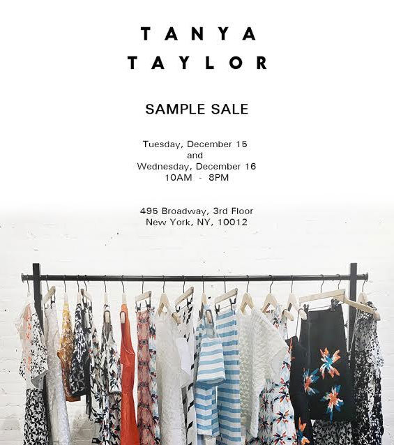 Tanya Taylor Sample Sale
