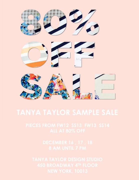Tanya Taylor Sample Sale