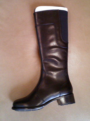 Taryn Rose Black Knee High Leather Boots: originally $495, now $150