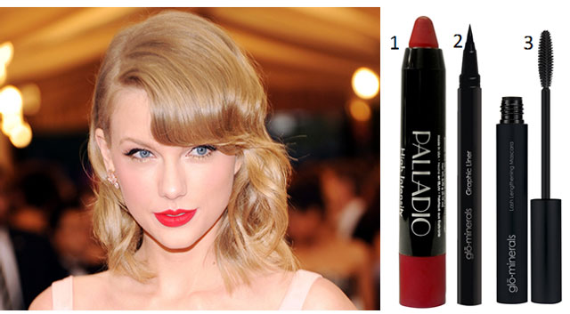 Taylor's Classic Red Lip/Winged Eye Combo