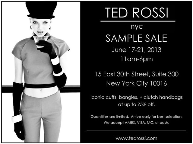 Ted Rossi Sample Sale
