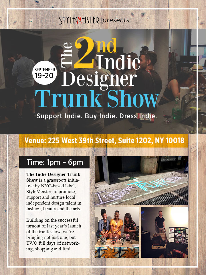 The 2nd Indie Designer Trunk Show